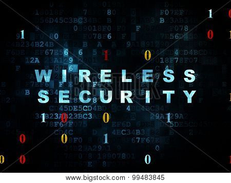 Security concept: Wireless Security on Digital background