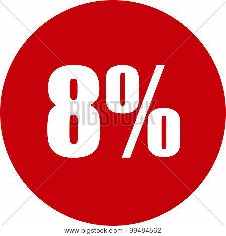8 Percent Icon
