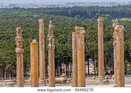 Persepolis ancient pillars