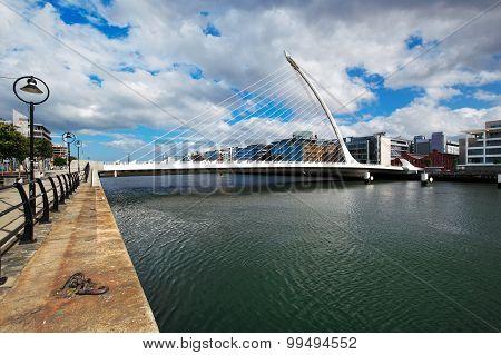 Samuel Beckett Bridge in Dublin City Centre