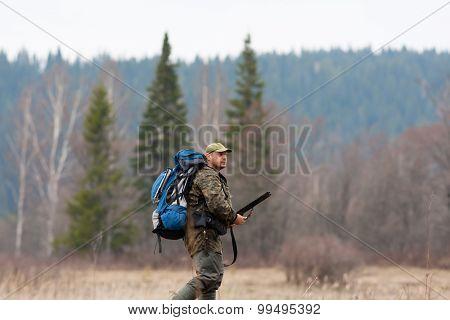 Hunter With Rucksack