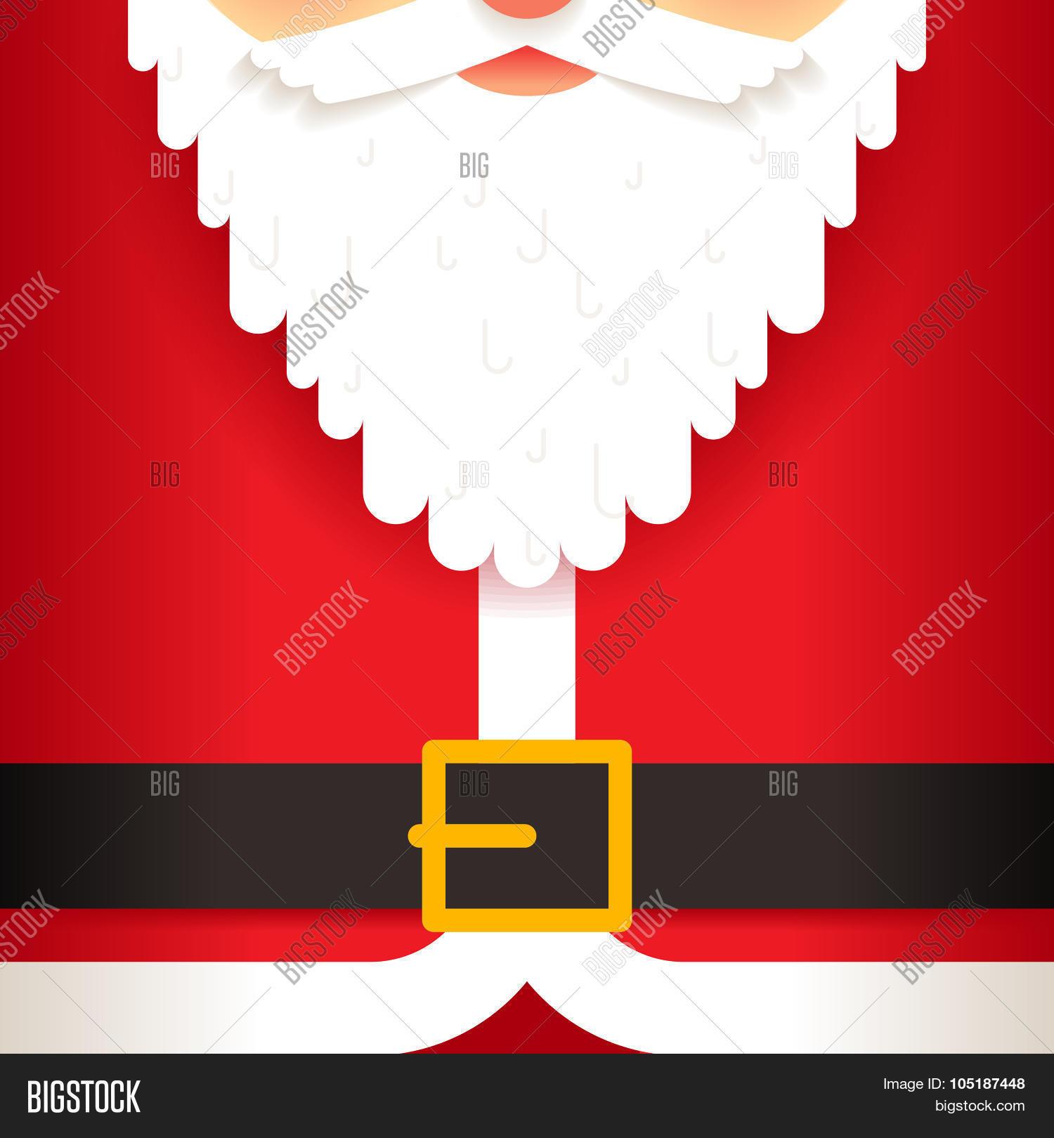 Santa Claus Beard Vector Photo Free Trial Bigstock