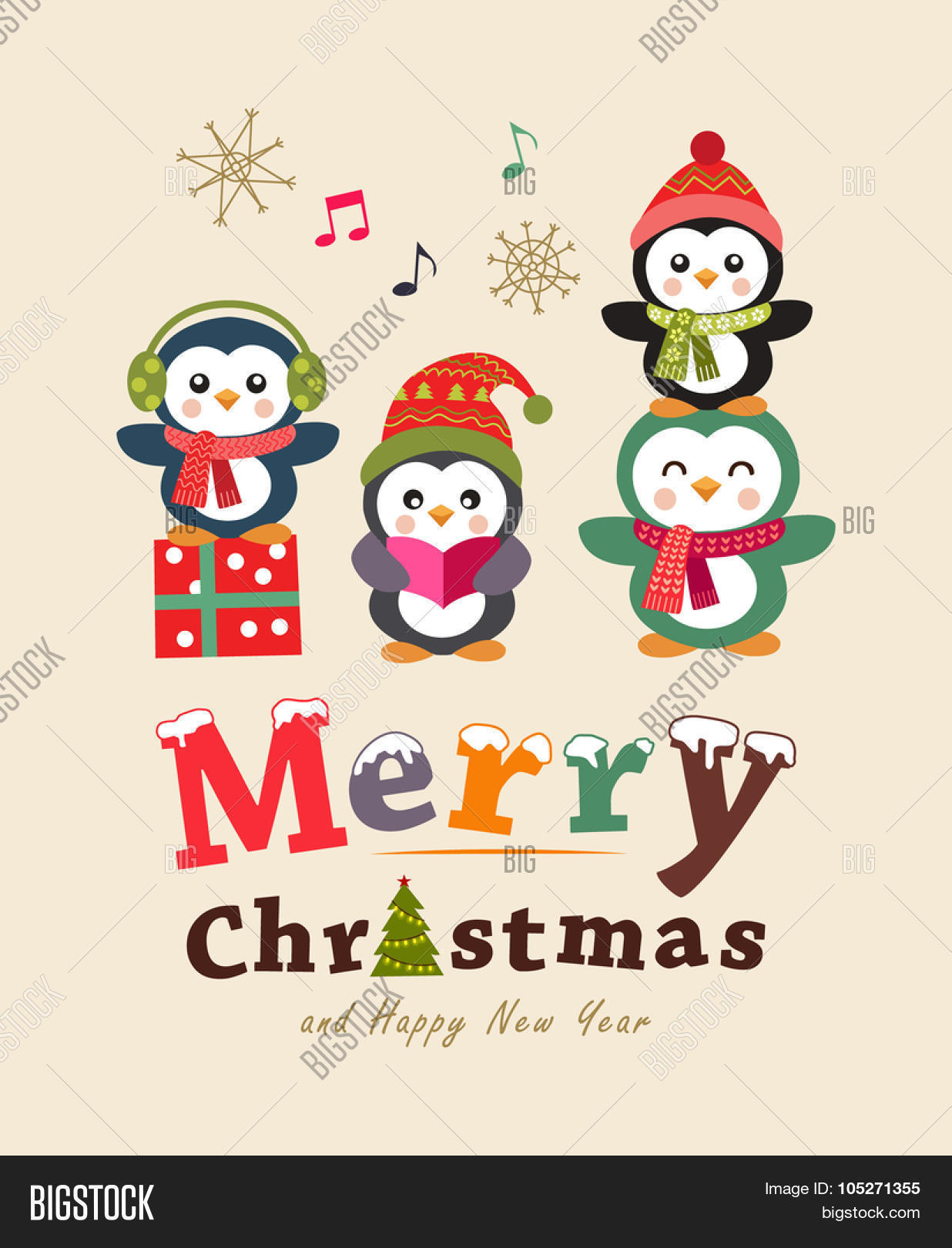 Funny Christmas Card Vector Photo Free Trial Bigstock
