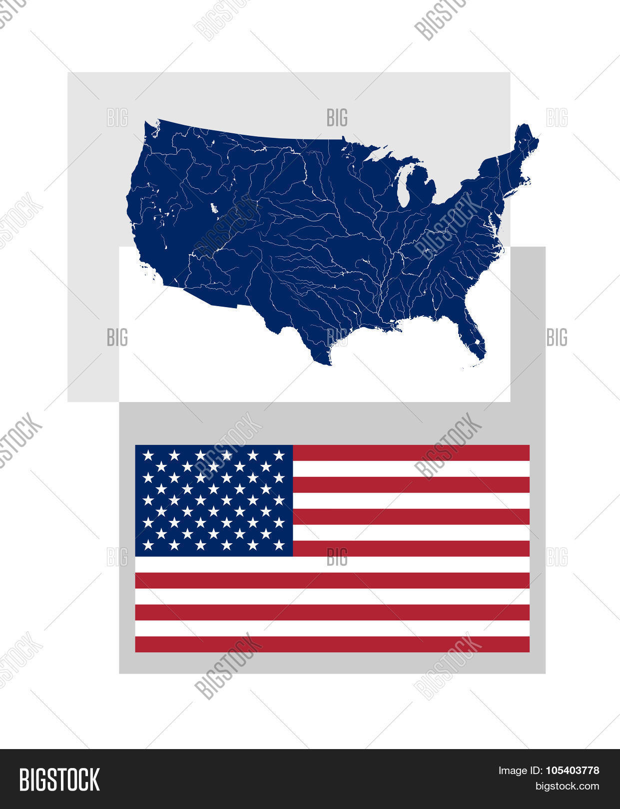 Map United States Vector & Photo (Free Trial)   Bigstock