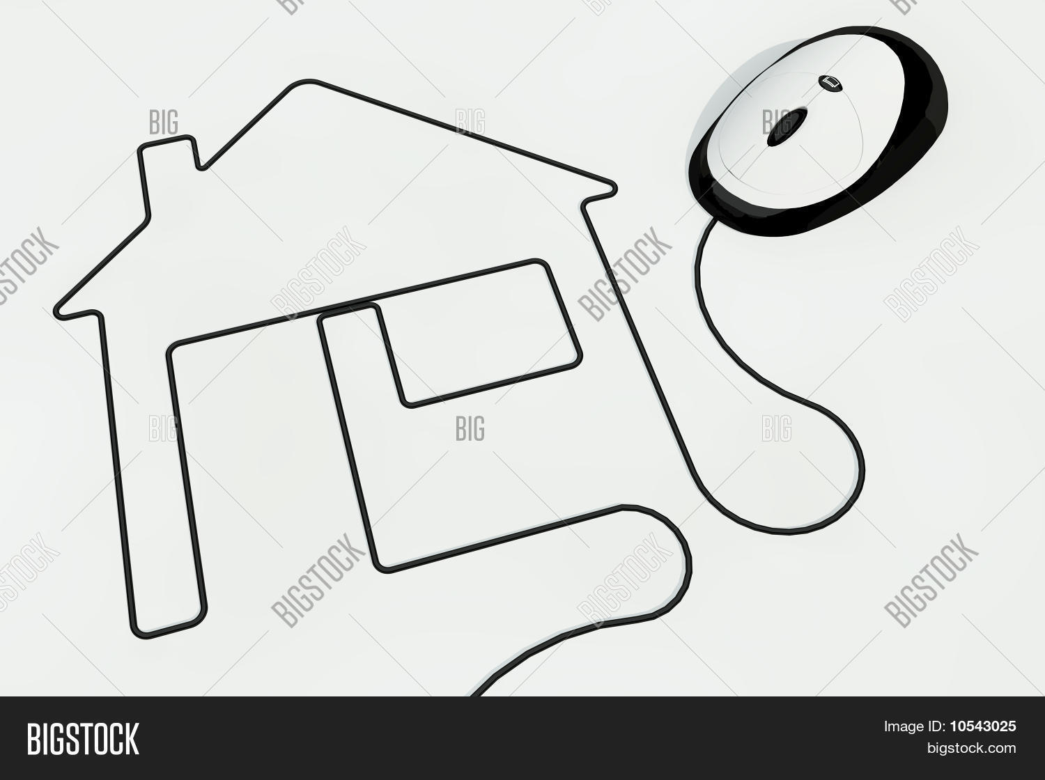 house drawn mouse wire image photo free trial bigstock Cord Clip Art house drawn with mouse wire