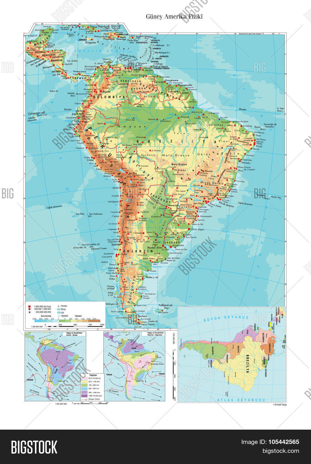 Topographic Map South Vector Photo Free Trial Bigstock