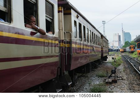 People On The Thai Train