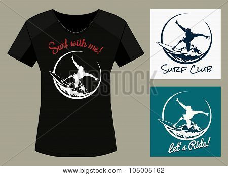 Surfer Club Print Designtemplate