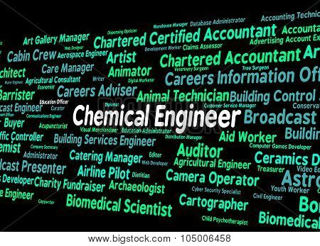 Chemical Engineer Shows Word Mechanics And Chemicals