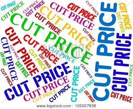 Cut Price Indicates Expense Reduce And Reduction
