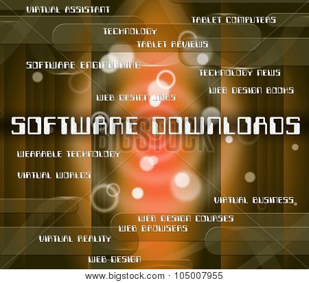 Software Downloads Means Programming Softwares And Transfer