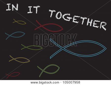 Christian Fish In It Together