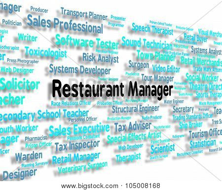 Restaurant Manager Means Cafes Chief And Managers