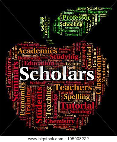 Scholars Word Shows Learned Person And Academic
