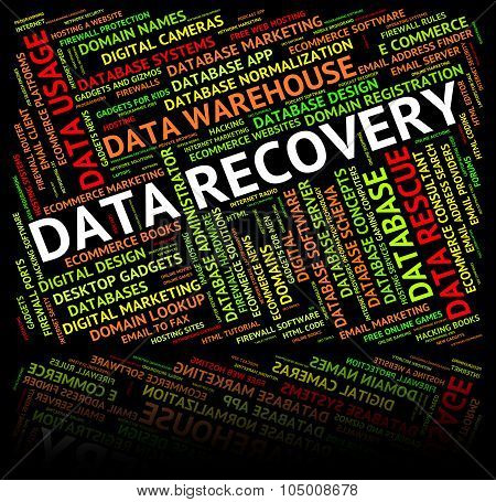 Data Recovery Shows Getting Back And Bytes