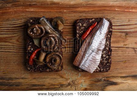 Open Sandwiches Or Smorrebrod