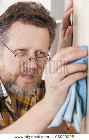 Man Doing Household Chores