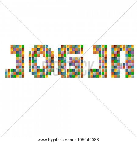 Colorful Jogja indonesia text in vector