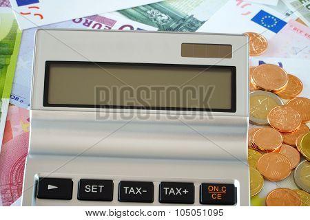Blank Screen Of A Pocket Calculator