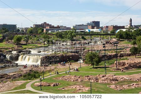Sioux Falls Park South Dakota Skyline