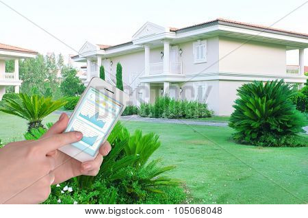 Smart energy controller or remote home control online on phone