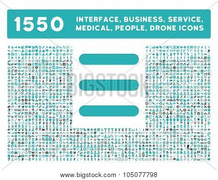 Menu Icon and More Interface, Business, Tools, People, Medical, Awards Flat Glyph Icons