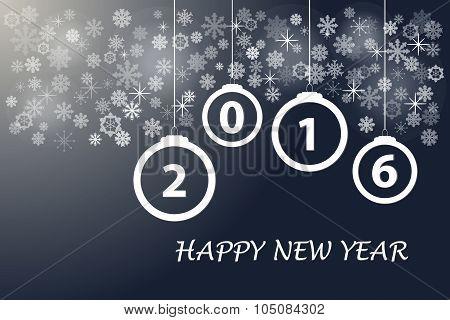 Happy New Year In Dark Color