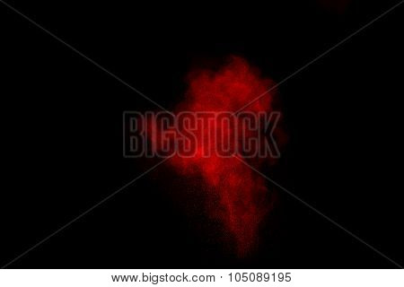 Abstract Color Powder Cloud.