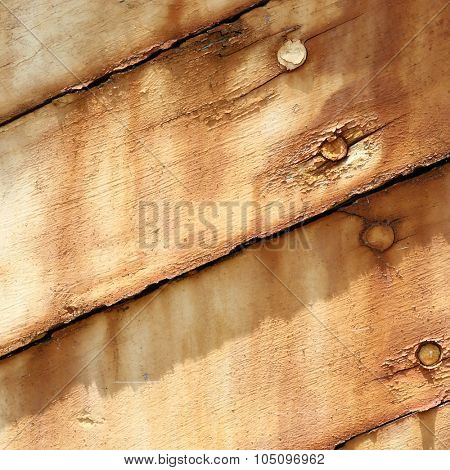 Boards of old boat background texture