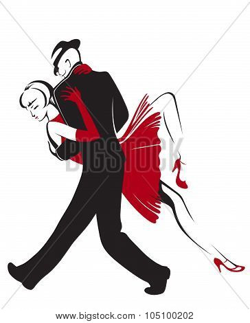 Abstract Dancing Couple