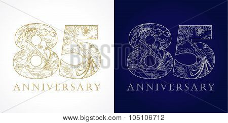 85 anniversary vintage logo.