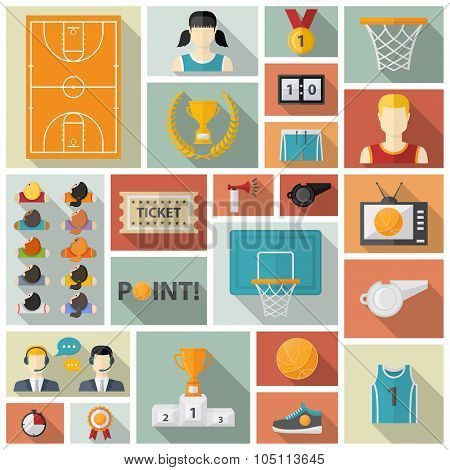 Vector Basketball collection.