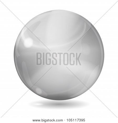 Big Gray Opaque Glass Sphere