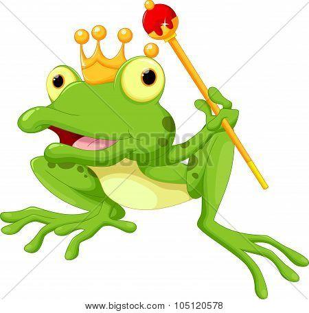Cute frog Prince cartoon