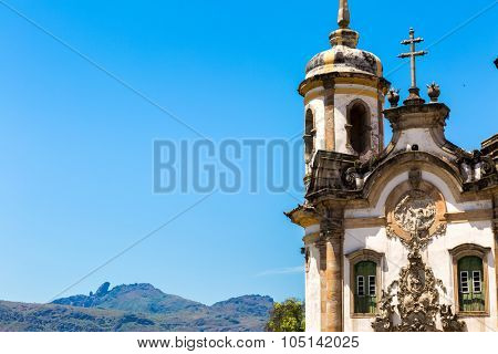 Church of Saint Francis of Assisi in Ouro Preto, Minas Gerais, Brazil