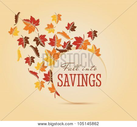 Fall Sale Vector graphic