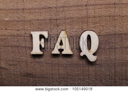 Wooden Text Faq