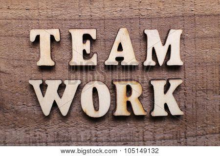 Wooden Text Teamwork