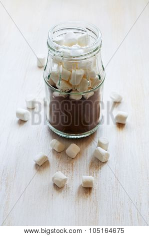 Marshmallow In A Glass Jar