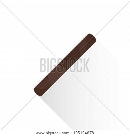 Vector Flat Cigar Guillotine Cutter Illustration Icon.