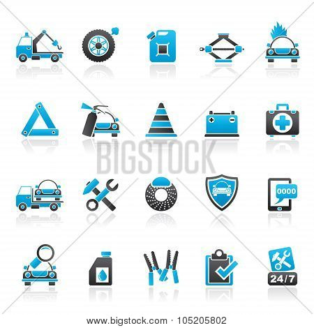 Roadside Assistance and tow  icons