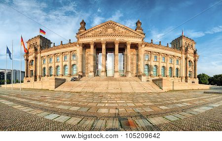 Reichstag In Berlin, Germany, Panorama