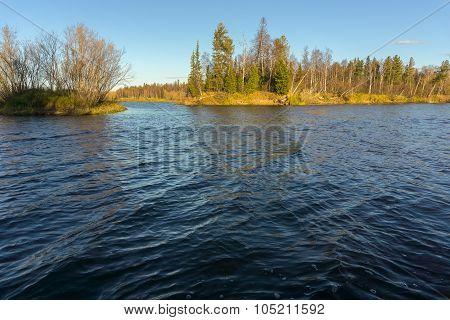 late autumn river Yagenetta