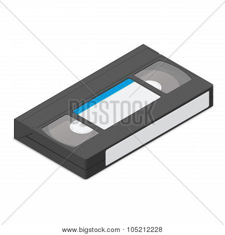 Video Cassette  Detailed Isometric Icon