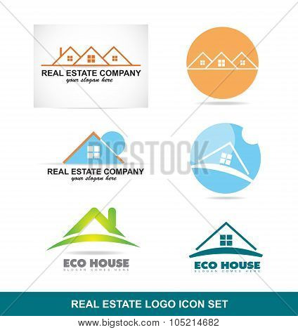 Real Estate Logo Icon Set