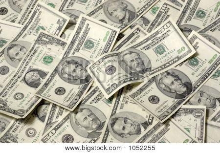 Horizontal Money Background