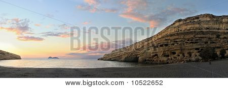 Matala Sunsest Panorama