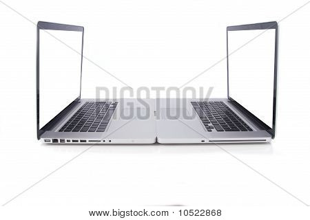 Two Aluminium Design Laptops