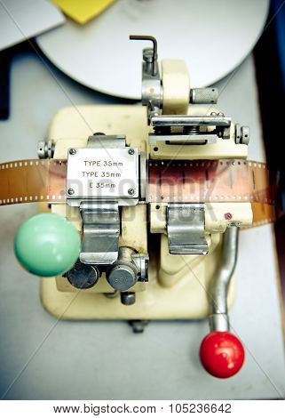 Vintage 35 Mm Movie Splicer Close Up