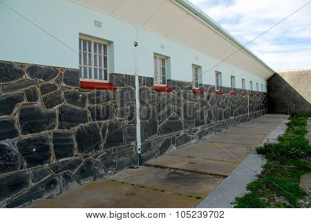 Walls of Robben Island prison, Cape Town, South Africa